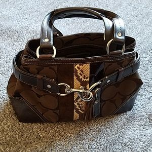 Coach Hamptons Python Signature bag AUTHENTIC